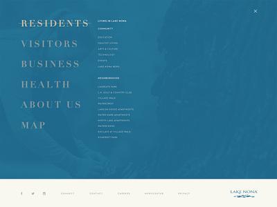 Homepage to Menu Transition gif layout web lorem bar loading blue menu splash principle animation design