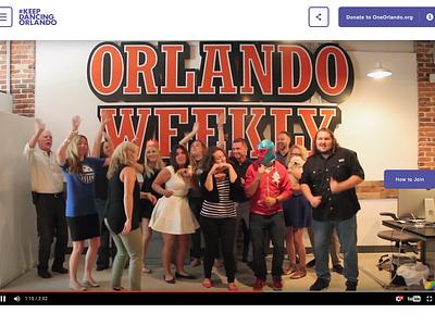 Keep Dancing Orlando pulse united pride page landing web orlando dancing design