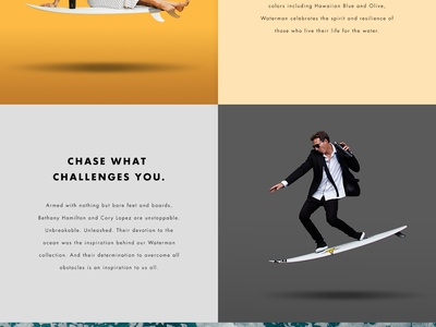Corkcicle Waterman product water grid square web layout design page