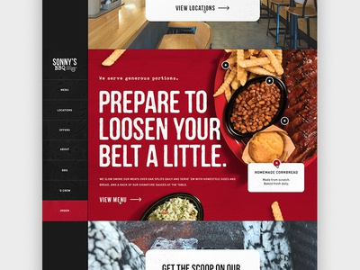 BBQ Homepage Concept scroll design web side nav animation homepage bbq