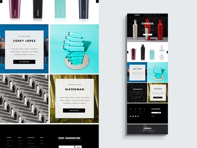 Homepage Concept web retail color design commerce grid