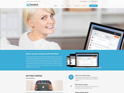 Help Desk Website design