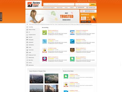 Reviews Website design