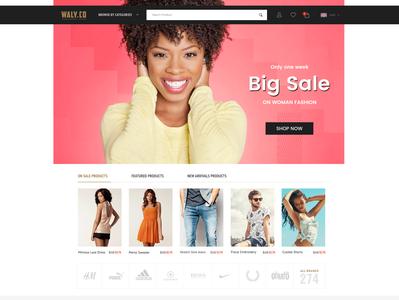 Men's and Women's Fashion Website Design