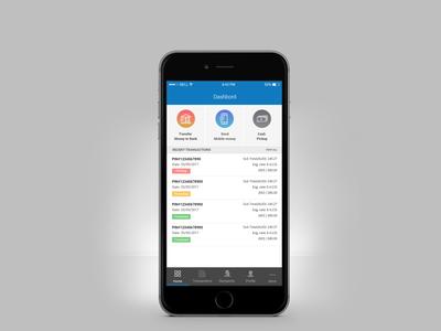 Money Transfer Mobile App Dashboard UI