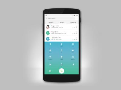 Mobile Dialer Screen UI Design