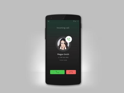 Incoming Call Screen, App UI UX