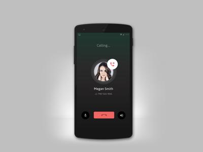 Phone Calling Screen Mobile App UI Design