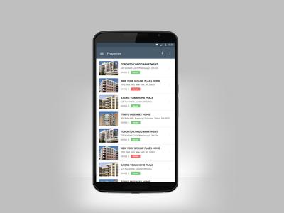 Rental Property Listing App Screen