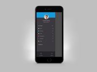 Mobile App Side Drawer Navigation UI UX Design