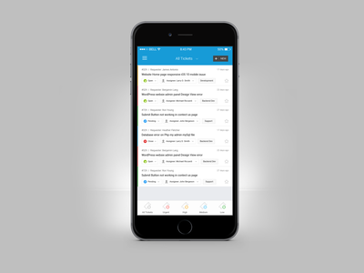 Help Desk Mobile App Ticket Screen UI UX Design