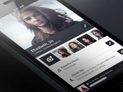 Flat Profile profile ios flat music player note about user icons grey dark darker light lighter white play stop edit state