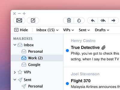 Mail App Re-skinned mail app mac white light ios7 flat clean redesign reskin os x