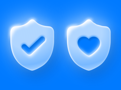 Protected Icon 🛡️+ 💙= ✅