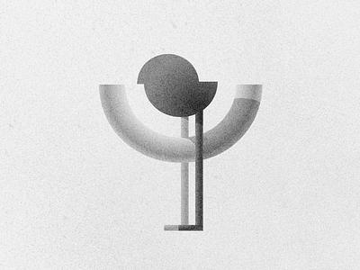 Ў typography icon 3d branding logo vector fun illustration design