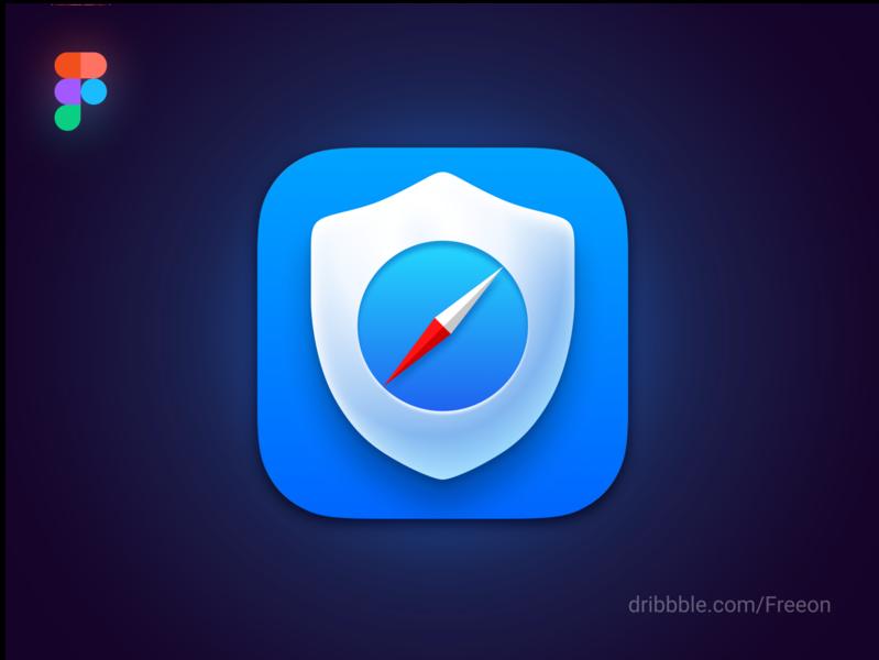 🛡️Content Blocker New Icon WWDC 2020 link figma source file source icon style big sur wwdc 2020 wwdc macos ios 14 3d mobile icon vector logo illustration branding app ios design