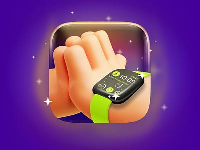 ⌚️Apple Watch Faces App Icon vector ui illustration product mobile ios app design app ios icon branding logo graphic design 3d