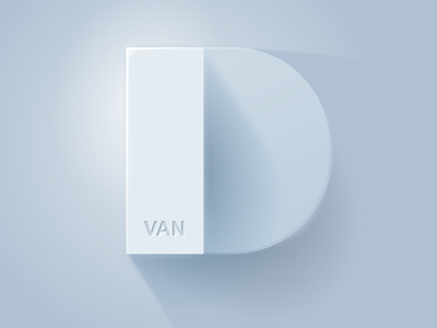D Ivan 3d art typography branding vector illustration design logo