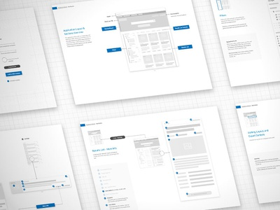 Annotated Wireframes - Search/Wizard Style Application