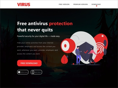 Virus Landing Page