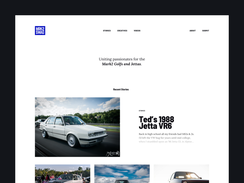 MRK2 - Home typography whitespace website web publication minimal magazine lora grid blog barlow automotive