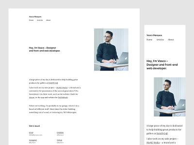 ByVasco - New Website lora inter serif web ui portfolio minimalism white personal website