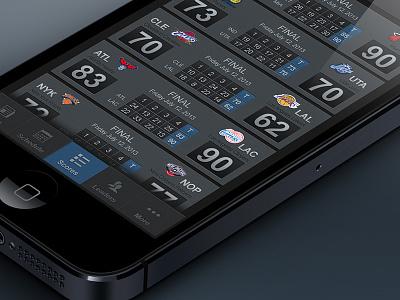 NBA Mobile App for iOS ios sports nba iphone app mobile app dark basketball
