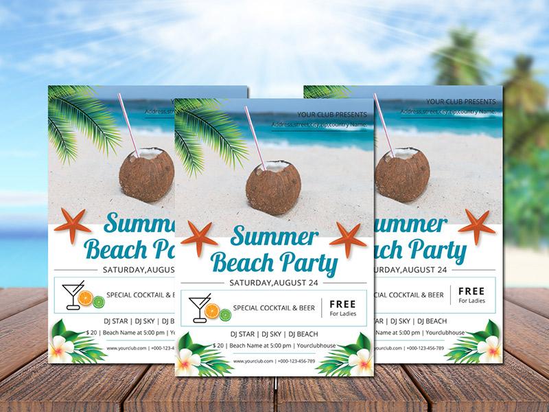 Summer Party Flyer summertime summer summer party modern invitation flyer design