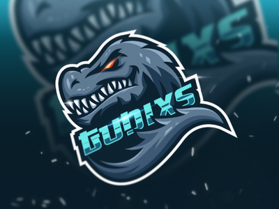 T-REX business logo esport vector mascot gaming clothing e-sport mascotlogo illustations creative logodesign symbol brand identity design