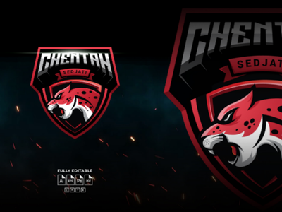 Cheetah esport logo design vectordesign flatdesign badge emblem logotype characters branding squadlogo gaming e-sport mascotlogo illustations creative logodesign graphic vector mascot esport logo