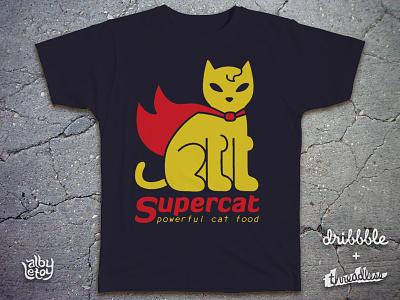 SUPERCAT food superhero company logo cat funny