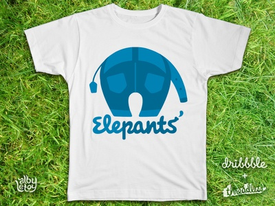 Elepants company logo elephant funny pants simple blue