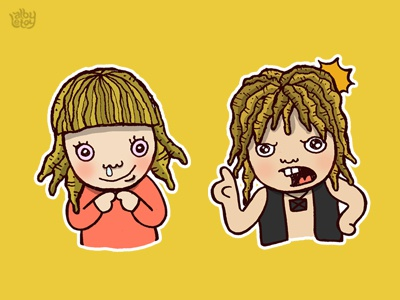 Gimbal 2 illustration cartoon dreadlock character hair draw doodle design art comic angry sweet