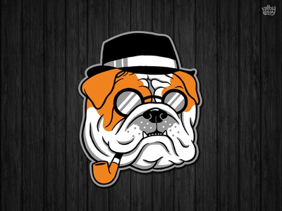 Big Boss sticker dog contest cartoon vector design logo boss animal digital artwork vinyl