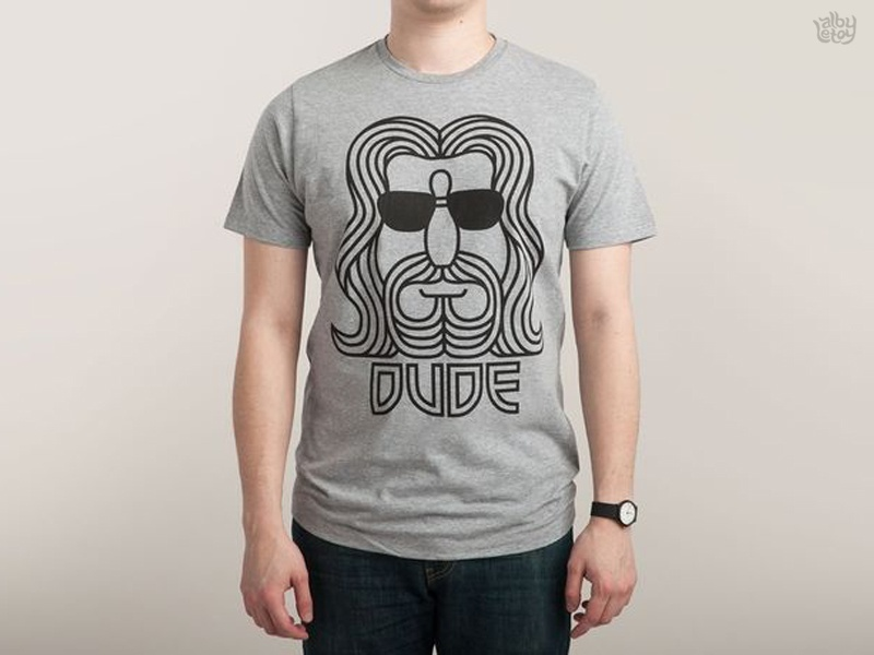 The Dude  photo threadless t-shirt dude lebowski bowling line vector movie logo illustration symmetry