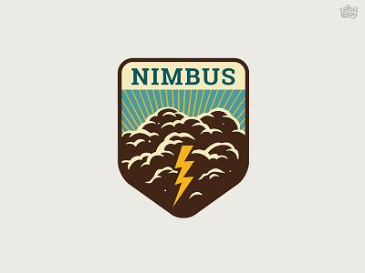 Nimbus sign nimbus flash cloud classic vintage logo emblem illustration t-shirt
