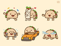 Taco 02 - Sticker Set