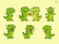 T-Rex 02 - Sticker Set