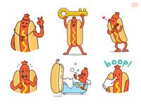 Hot Dog 02 - Sticker Set