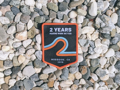 Humu 2-year Celebration Patch graphic design vector swag badge patch