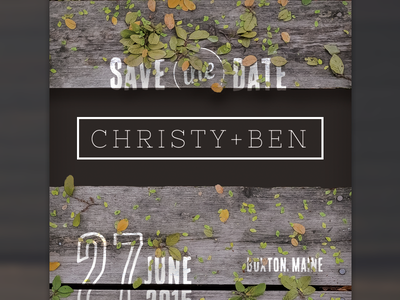 Save it. wedding invitations postcard rustic wood save the date