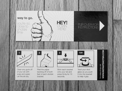 Easy as 1, 2... packaging print vector instructions