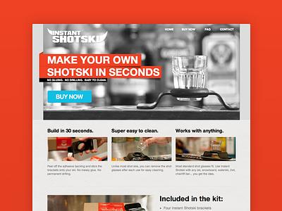 Seconds, please! shot ski instant shotski single page product page snowboard ski buy commerce web