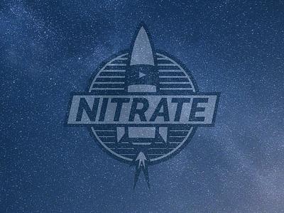 Rock it rocket ship tshirt patch logo vector space rocket