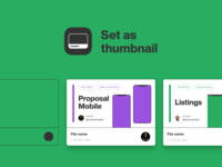 Set as thumbnail in Figma files projects freebie cover thumbnail figma