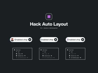 Hack Auto Layout / Figma hack tags chips buttons design system figma