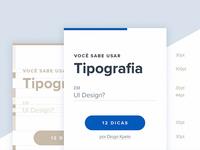 Você sabe usar tipografia em UI Design?