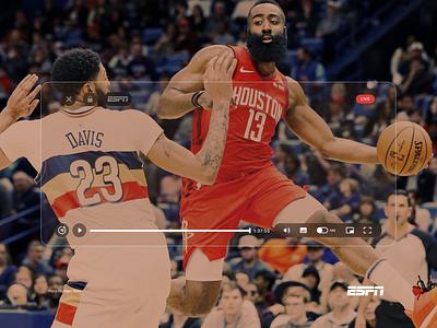 ESPN rockets pelicans app uidesign player espn