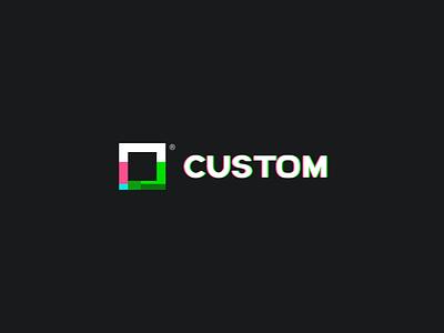 Custom - branding glitch color custom square marca logo brand branding