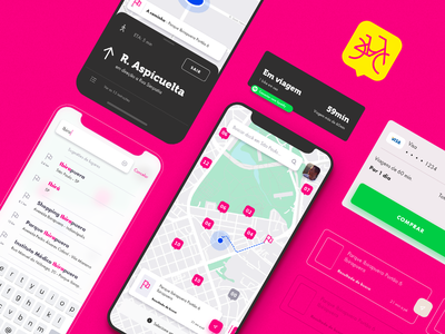 Tembici - Bike Sharing payment card app mobile uiux ui map bike sharing